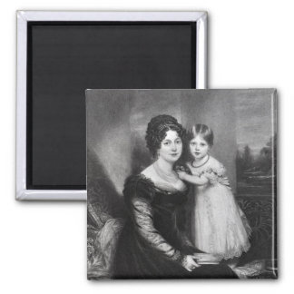 Queen Victoria as an infant with her mother Refrigerator Magnet