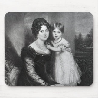 Queen Victoria as an infant with her mother Mouse Pad