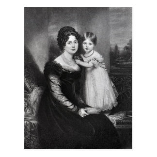 Queen Victoria as an infant with her mother Postcard