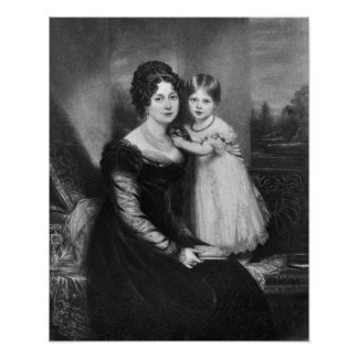 Queen Victoria as an infant with her mother Poster
