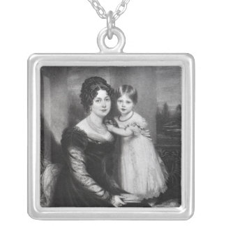 Queen Victoria as an infant with her mother Square Pendant Necklace
