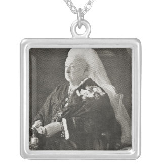 Queen Victoria  c.1899 Silver Plated Necklace