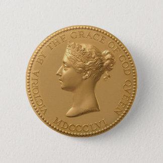Queen Victoria Coin Pinback Button