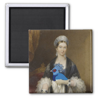 Queen Victoria Crowned Pigeon 2 Inch Square Magnet