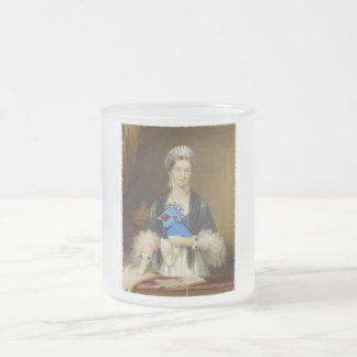 Queen Victoria Crowned Pigeon Frosted Glass Coffee Mug