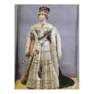 Queen Victoria  doll Postcard