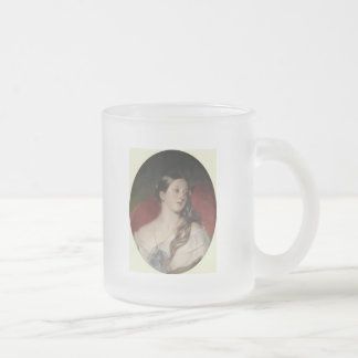 Queen Victoria Frosted Glass Coffee Mug