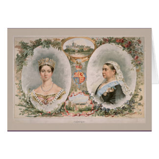 Queen Victoria Golden Jubilee Poster Card