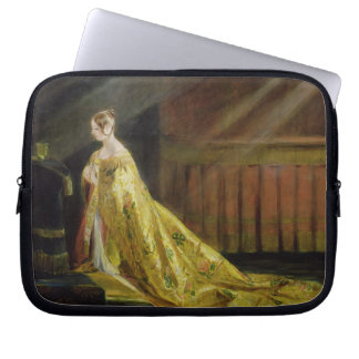 Queen Victoria in Her Coronation Robe, 1838 (oil o Laptop Sleeve