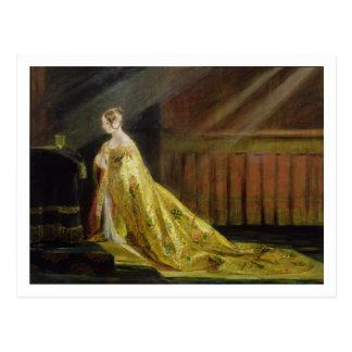 Queen Victoria in Her Coronation Robe, 1838 (oil o Postcard