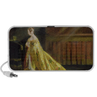 Queen Victoria in Her Coronation Robe, 1838 (oil o Travel Speaker