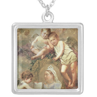 Queen Victoria - In Memoriam Silver Plated Necklace