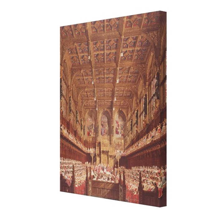 Queen Victoria in the House of Lords Canvas Print
