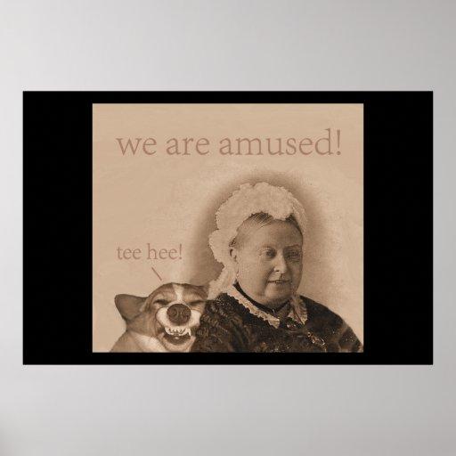 Queen Victoria IS amused! Print