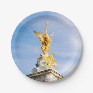 Queen Victoria Memorial Statue, London UK Paper Plate