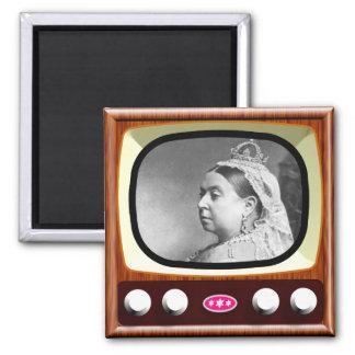 Queen Victoria on Retro TV 2 Inch Square Magnet