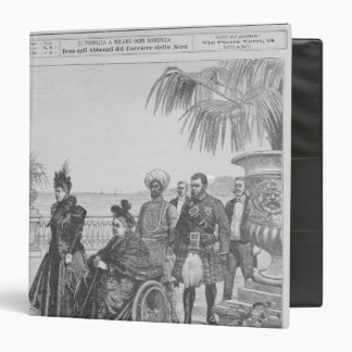 Queen Victoria on the Italian Riviera 3 Ring Binder