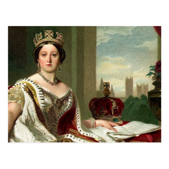 Queen Victoria Portrait Postcard