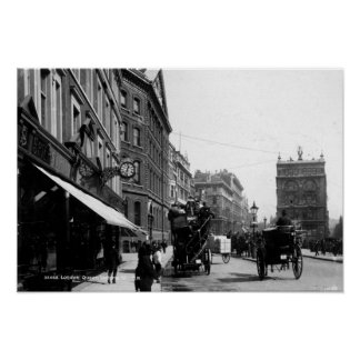 Queen Victoria Street, London, c.1891 Poster