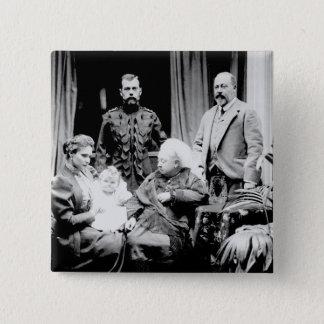 Queen Victoria, Tsar Nicholas II Button