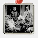 Queen Victoria, Tsar Nicholas II Metal Ornament