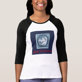 Queen Victoria Vic-horse-ia Postage Stamp Funny T T-Shirt