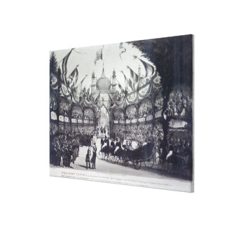 Queen Victoria's first visit to Brighton Stretched Canvas Print