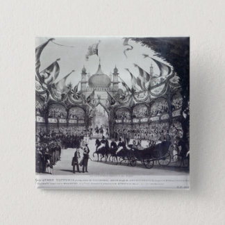 Queen Victoria's first visit to Brighton Pinback Button
