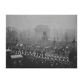 Queen Victoria's funeral cortege Canvas Print