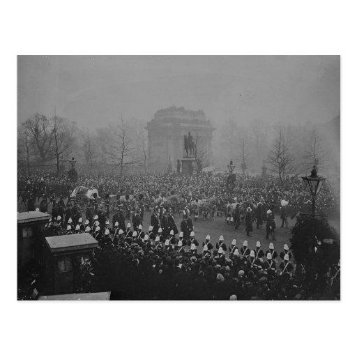 Queen Victoria's funeral cortege Postcard