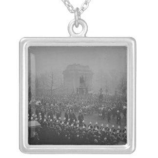 Queen Victoria's funeral cortege Square Pendant Necklace