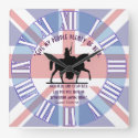 Queen Victoria&#39;s Quote, &quot;Give My People Beer!&quot; Square Wall Clock (<em>$33.45</em>)