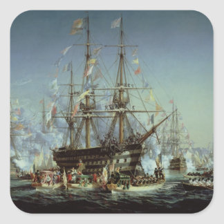 Queen Victoria's Visit to Cherbourg, 1858 Square Sticker