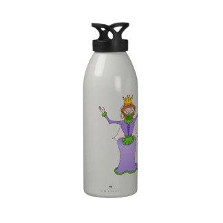 Queen Waving Water Bottles