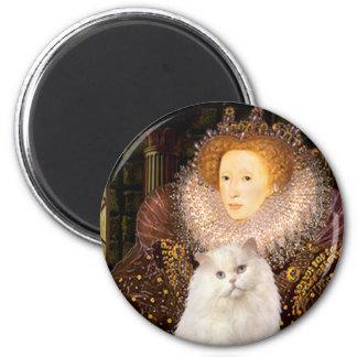 Queen - White Persian cat Magnet