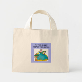 queen who rules mini tote bag