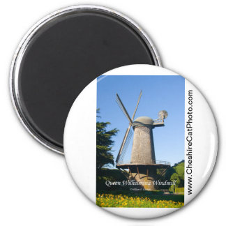 Queen Wilhelmina Windmill California Products 2 Inch Round Magnet