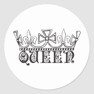 Queen with a crown sticker