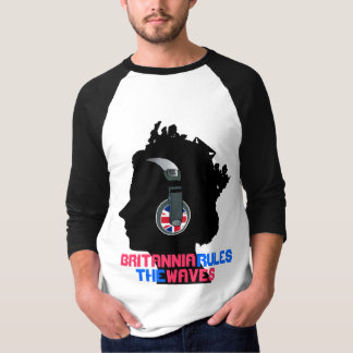 QUEEN WITH HEADPHONES (BRITANNIA RULES THE WAVES) T SHIRT