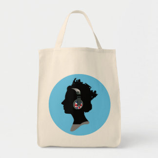 QUEEN WITH HEADPHONES Tote Bag
