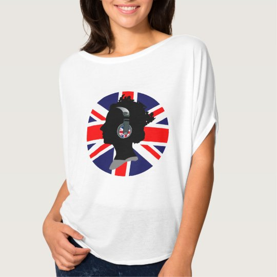 QUEEN WITH HEADPHONES (UK FLAG) Bella Flowy Top