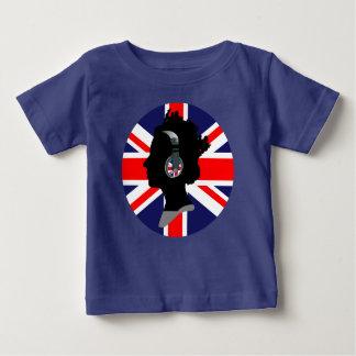 QUEEN WITH HEADPHONES (UK FLAG DESIGN) INFANT T-SHIRT