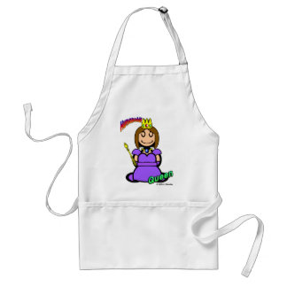 Queen (with logos) adult apron