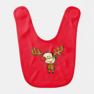 Queen with the red nose baby bib