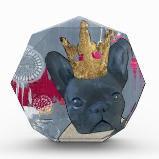 Queen Zoey the French Bulldog Acrylic Award