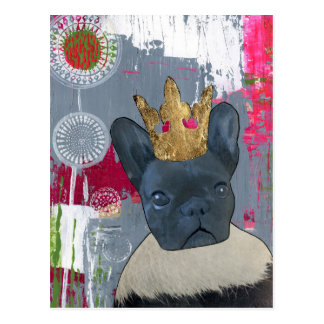 Queen Zoey the French Bulldog Postcard