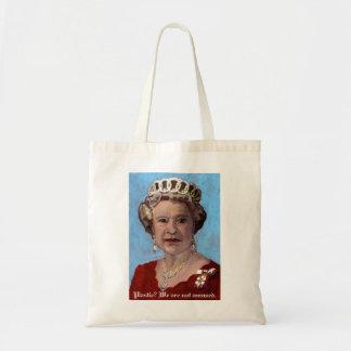 queenelizabethbag, Plastic? We are not amused. Tote Bag