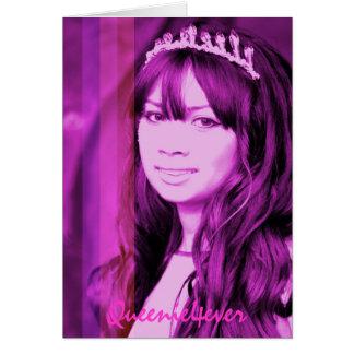 Queenie4ever pink stripe Princess ... - Customized Card