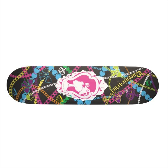 Queenie4ever Royal Tea Party Charm Skate Deck