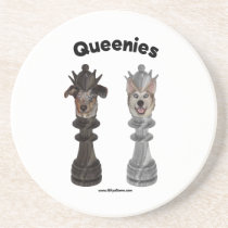 Queenies Chess Dogs Coaster